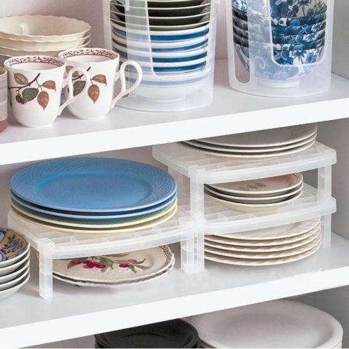 Stackable Shelf Home Organizer Rack