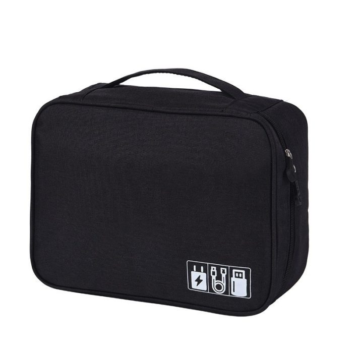 Keep all your cable wires and other electronics accessories in one place with the Packing Bags Travel Gadget Organizer. When you are traveling, it is best that you have a separate organizer bag like this one for your gadgets so you can easily find them when you need them It has many divisions and pockets for cables.