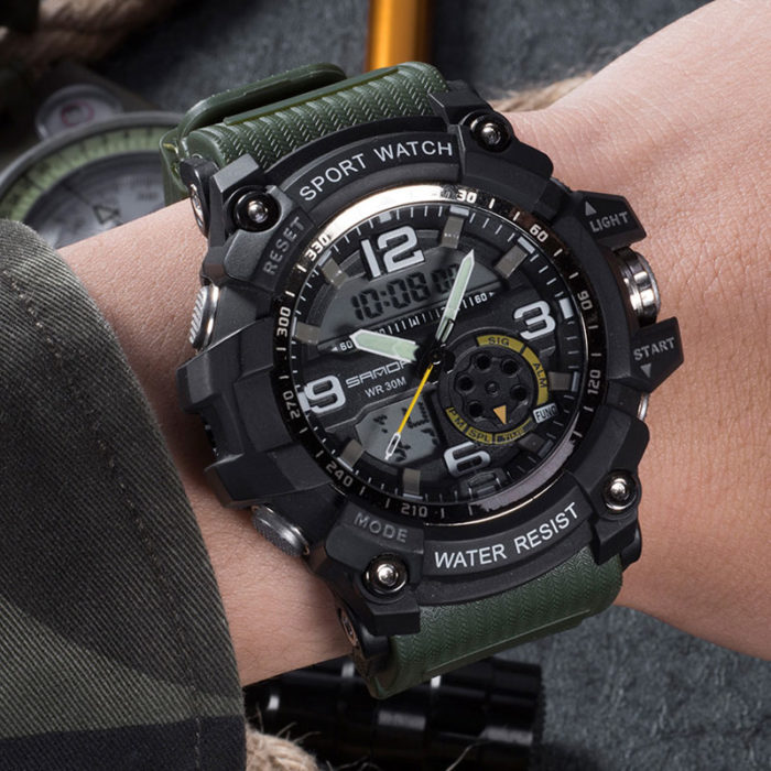 Mens Sports Watch Chronograph Timepiece