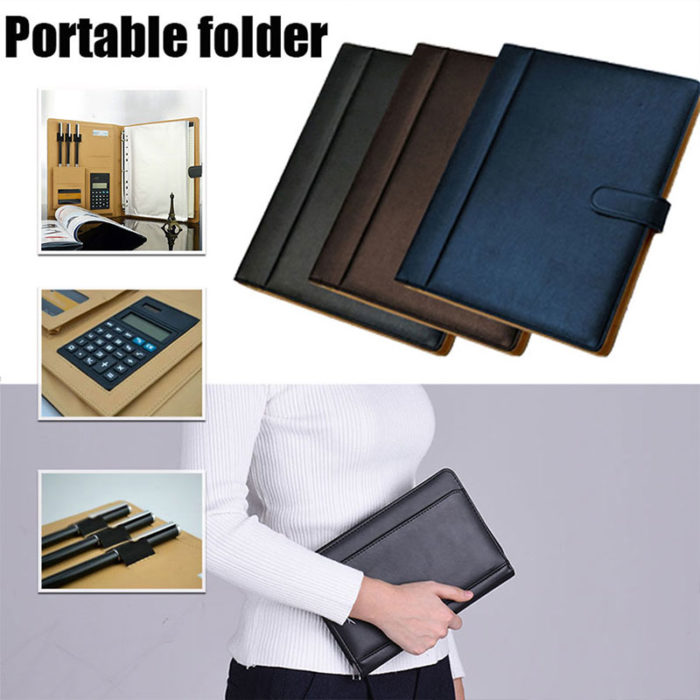 3 Ring Binder Office Folder with Calculator