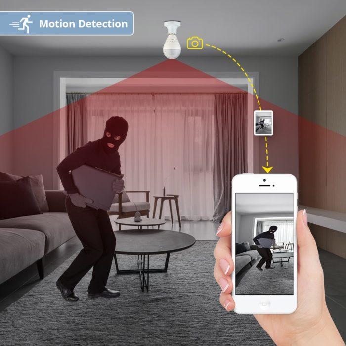 Wireless Camera - Home Surveillance LED Light