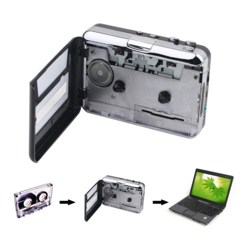 3-in-1 Portable USB Cassette Player / Recorder / Converter