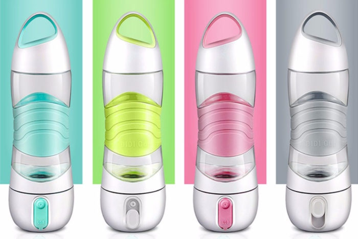 Sports Water Bottle Smart Reminder with Mist Sprayer