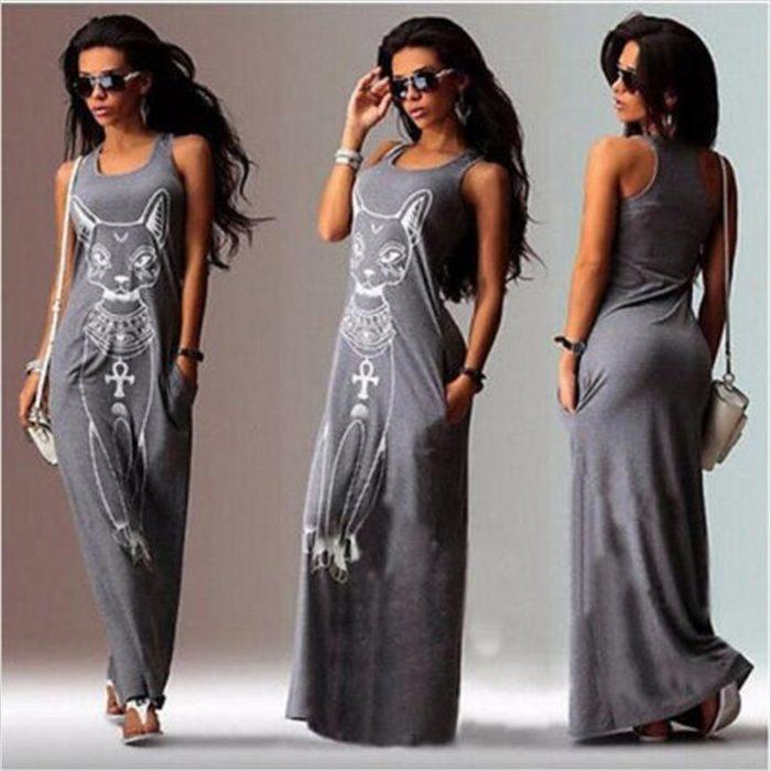 Summer Maxi Dress Casual Wear