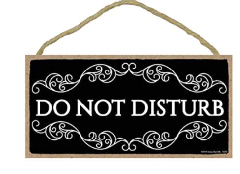 Do Not Disturb Sign Decoration