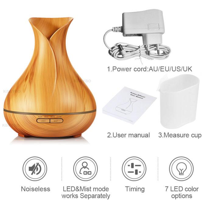 Aroma Diffuser Wood Grain Design