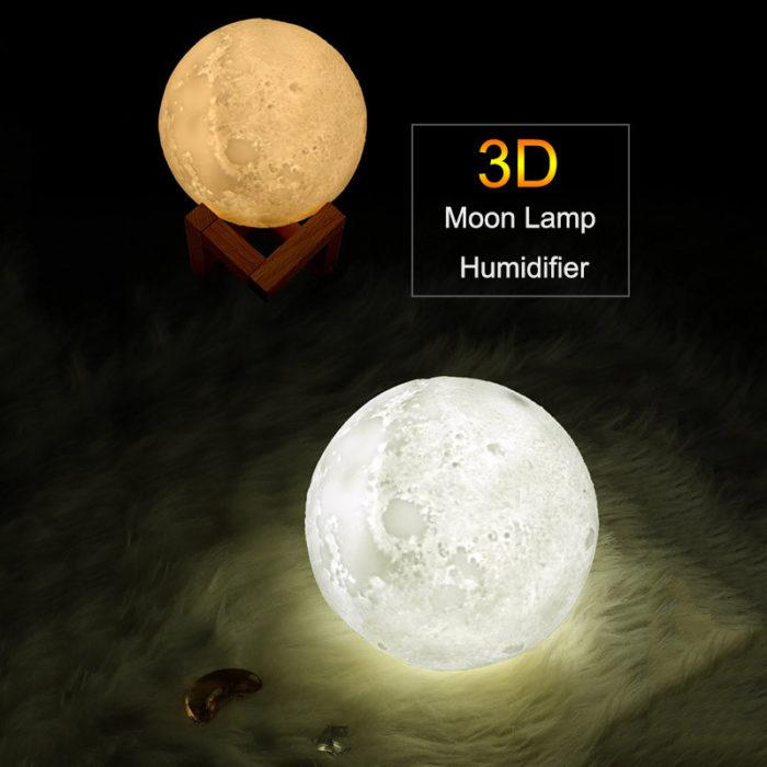Warm Mist Humidifier Moon Lamp