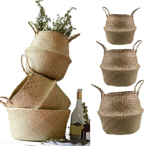 Woven Basket Sea Grass Wickerwork