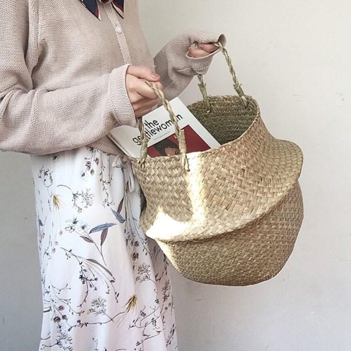 Woven Basket Sea Grass Wickerwork