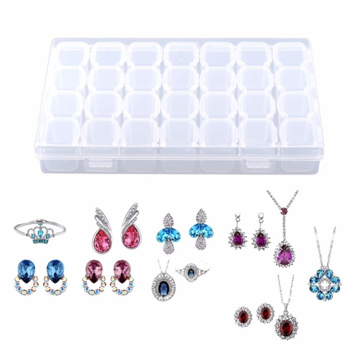 28 Slots Medicine Box Jewelry Organizer