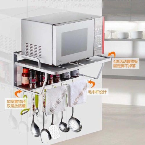 Microwave Shelf Wall Mount Storage