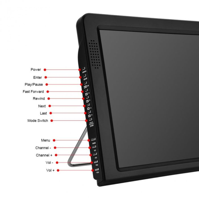 Portable TV 12-inch Digital LED Display