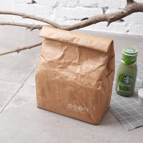 Brown Paper Bag Reusable Lunch Box