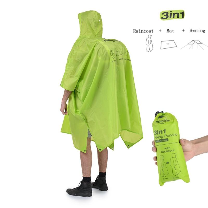 3in1 Waterproof Poncho Rain Gear
