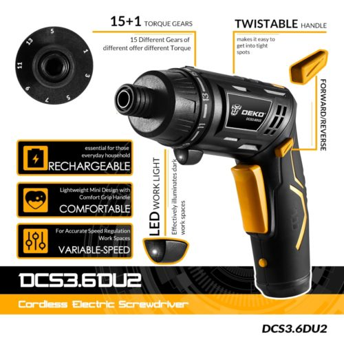 Power Screwdriver Cordless Tool