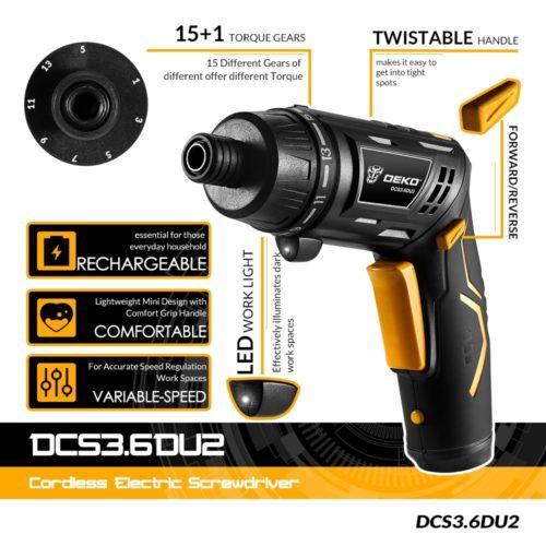 Power Screwdriver Cordless Tool