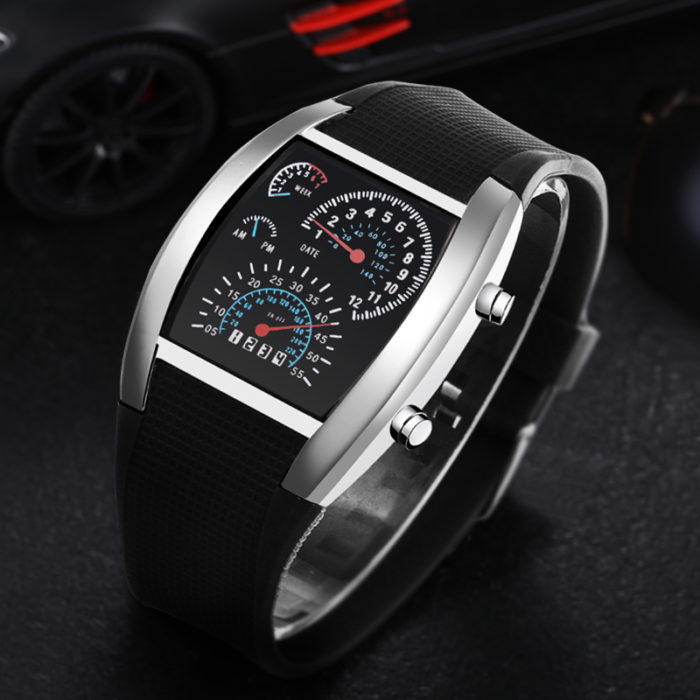 Digital Wrist Watch LED Band