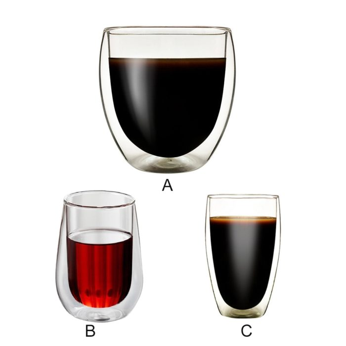 Double Walled Glasses Heat Resistant
