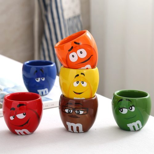 Cute Mugs Cartoon M&Ms Cups