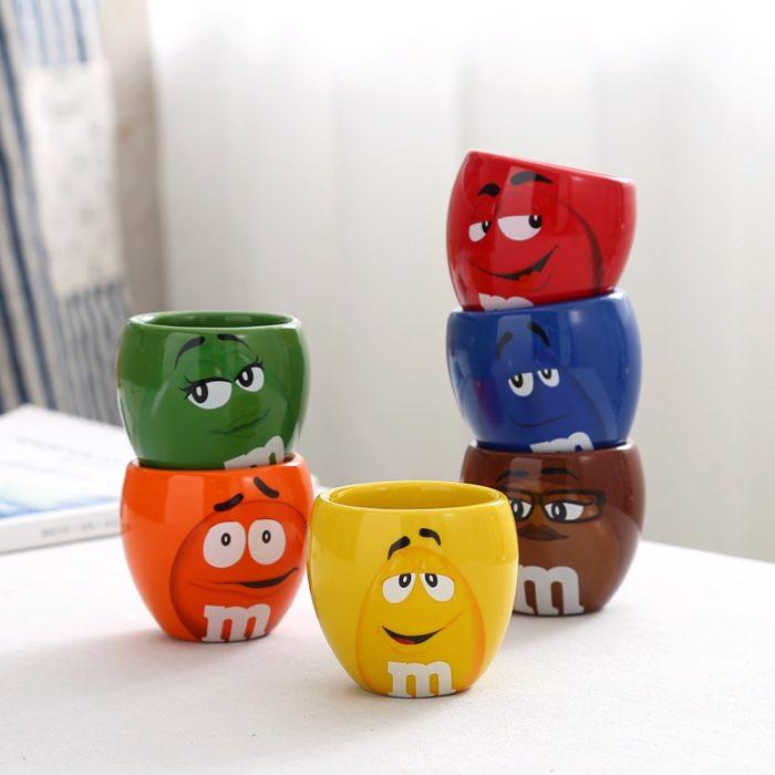 Cute Mugs Cartoon M&Ms Cups