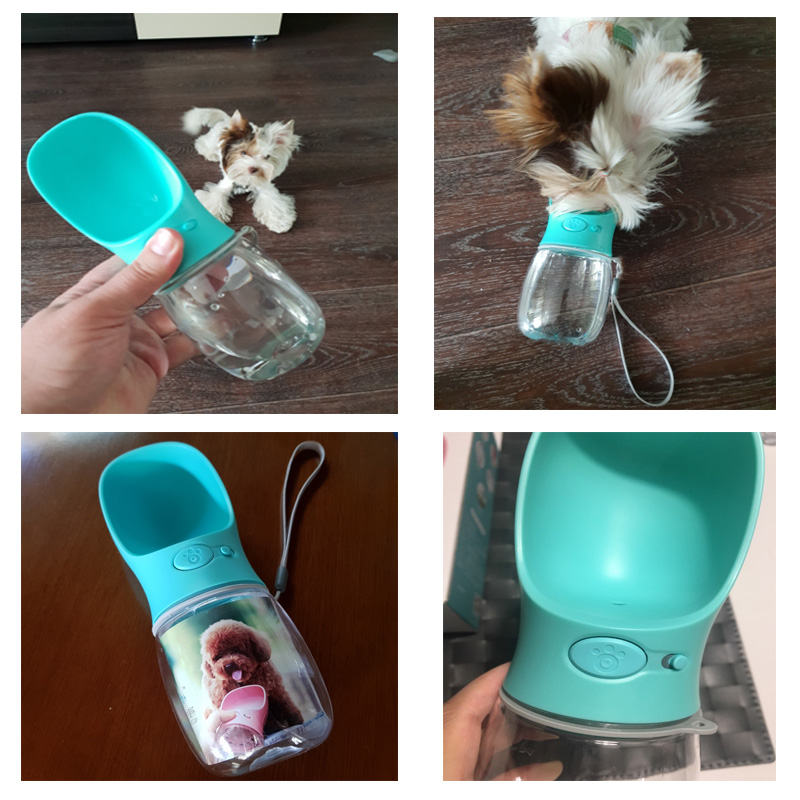 Pet 400ml Portable Filter Travel Cups Drinking Bowls Dog: Dog Water Dispenser Portable Bottle