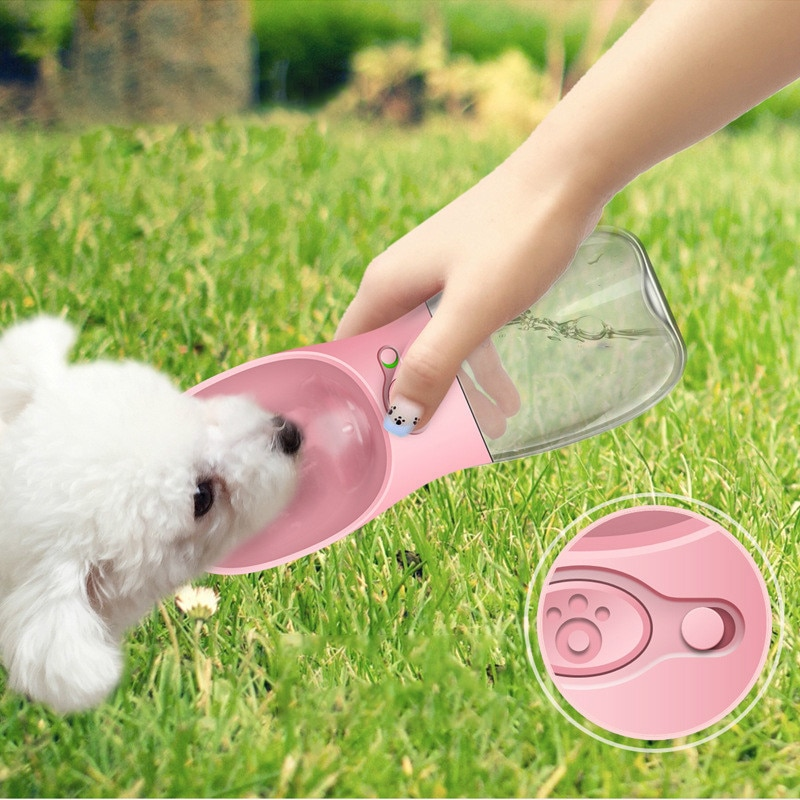 350ml Plastic Portable Pet Dog Water Bottle Travel Dog: Dog Water Dispenser Portable Bottle