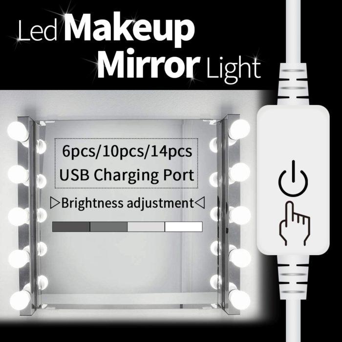 LED Mirror Lights USB LED 12V