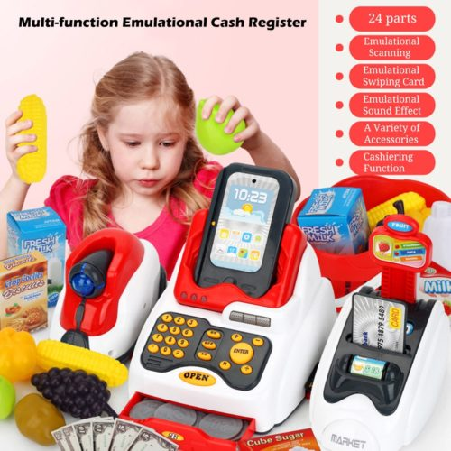Kids Cash Register Pretend Play Set