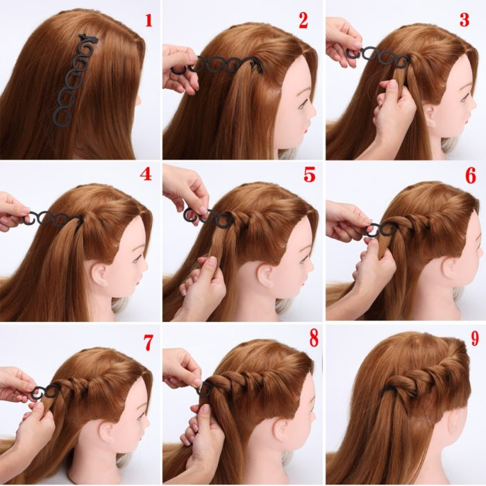 9 Styles Hair Braiding Tool Accessories