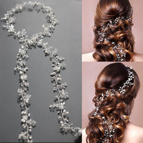 Hair Accessories With A Floral Pearl Crown