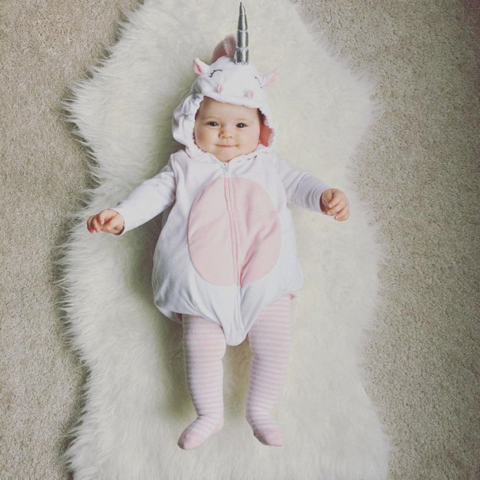 Baby Costume Unicorn Fleece Jumpsuit