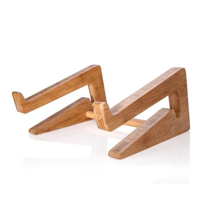 Laptop Riser Cooling Bamboo Stand