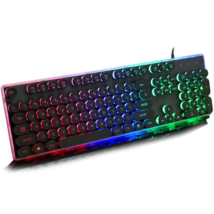 Gaming Backlit Keyboard Round Keys