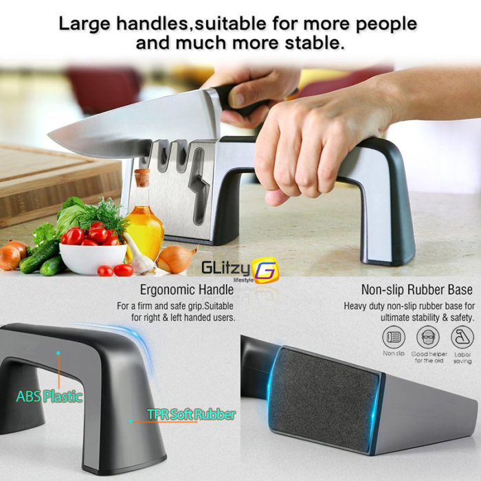 Knife Sharpener Kitchen Stone Grinder
