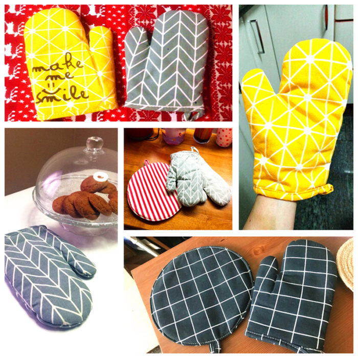Oven Mitts Modern Stylish Cooking Gloves