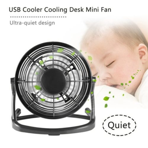 USB Desk Fan 4 Blades Mini Cooler