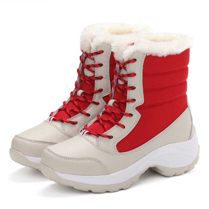 Ladies Snow Boots Waterproof Shoes