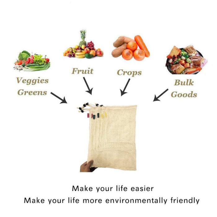 Mesh Bag Drawstring Vegetable Storage
