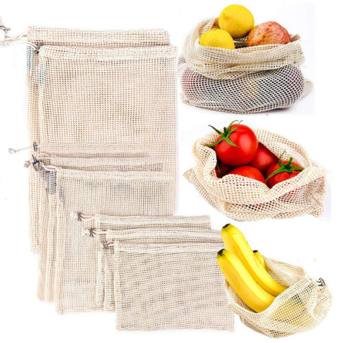 Mesh Bag Drawstring Vegetable Storage