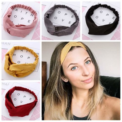 Hair Band Vintage Cross Knot