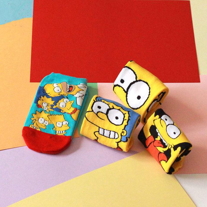 Cute Socks Simpsons Design
