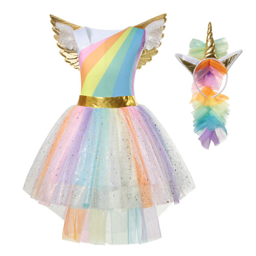 Unicorn Costume Kids Party Dress