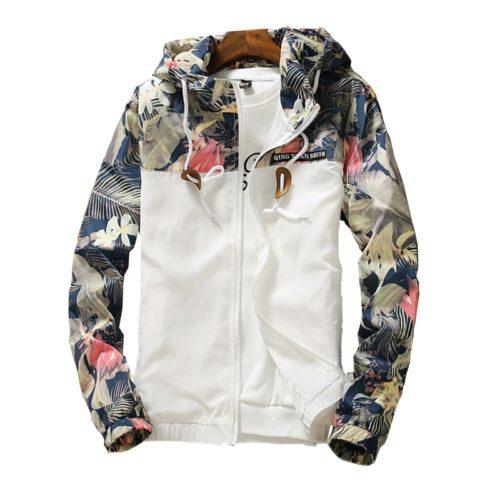 Floral Jacket Womens Hoodie