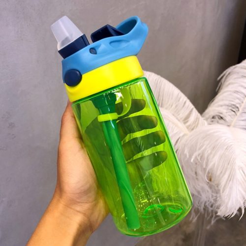 480ml Clear Water Bottles Straw Bottle