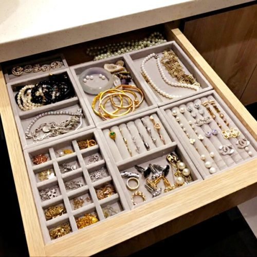 Jewelry Tray Accessories Organizer Box