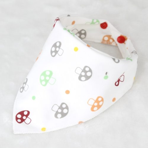 Baby Bibs Cotton Triangle Double Layers