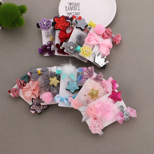 5pcs Baby Hair Clips Bow Accessories
