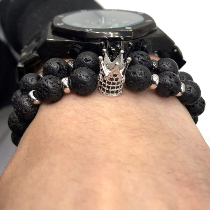 Lava Beads His and Hers Bracelet