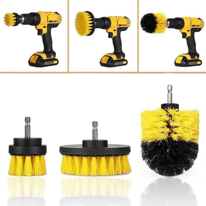 Power Scrubber Brush Cleaning Kit
