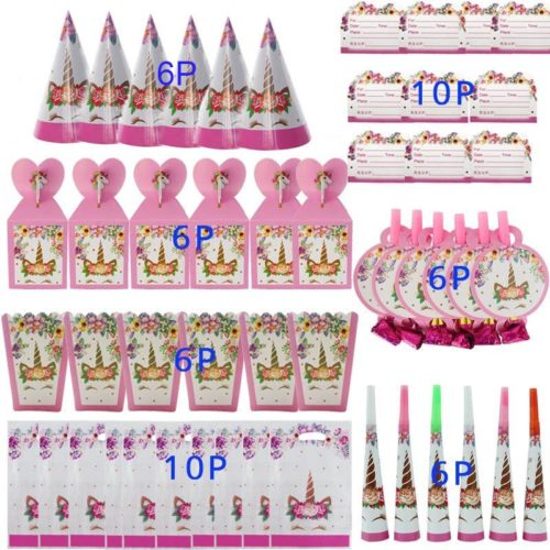 Party Supplies Unicorn Theme Set